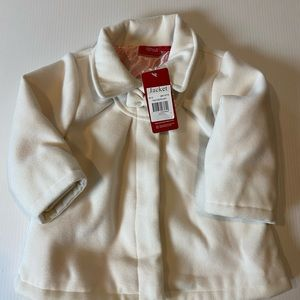 Sprout size 1 white overcoat brand new